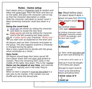 Rules Card Example